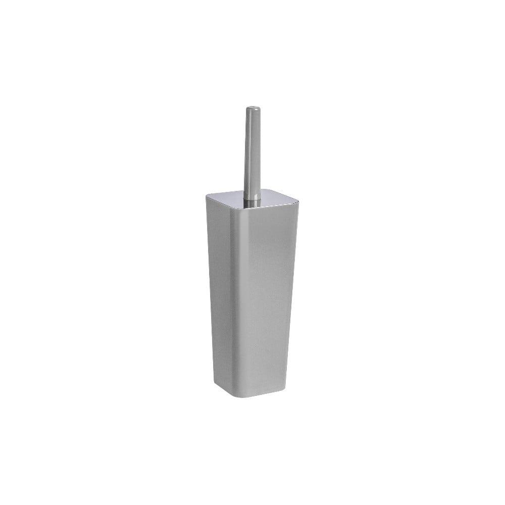 Sivá toaletná kefa Wenko Candy, výška 38,5 cm