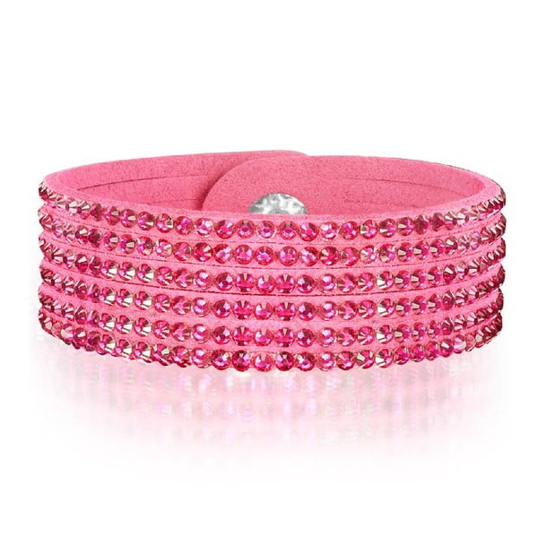 Náramok Simply Pink, 21 cm