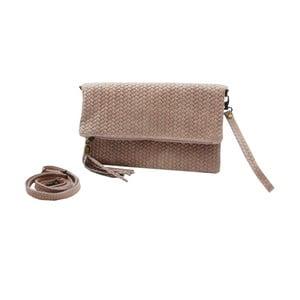 Staroružová listová kabelka z pravej kože Andrea Cardone Ricca