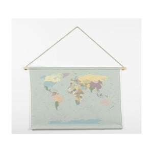 Tapiséria z mikrovlákna Really Nice Things Worldmap, 60×90 cm