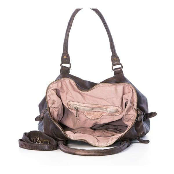 Hnedá kožená kabelka Federica Bassi Gio