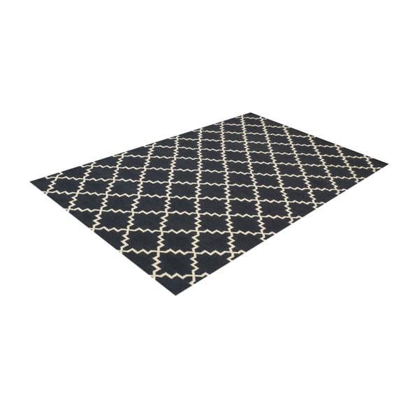 Vlnený koberec Eugenie Dark Grey, 180x120 cm