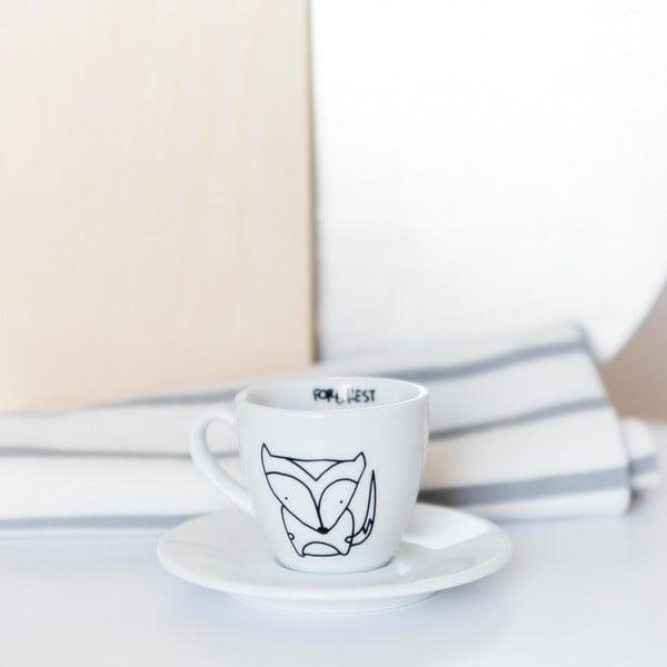 Hrnček na espresso s tanierikom Fox, 100 ml