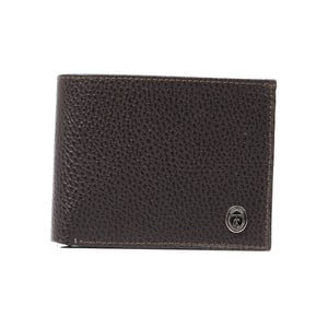 Hnedá pánska kožená peňaženka Trussardi Marinero, 12,5 × 9,5 cm