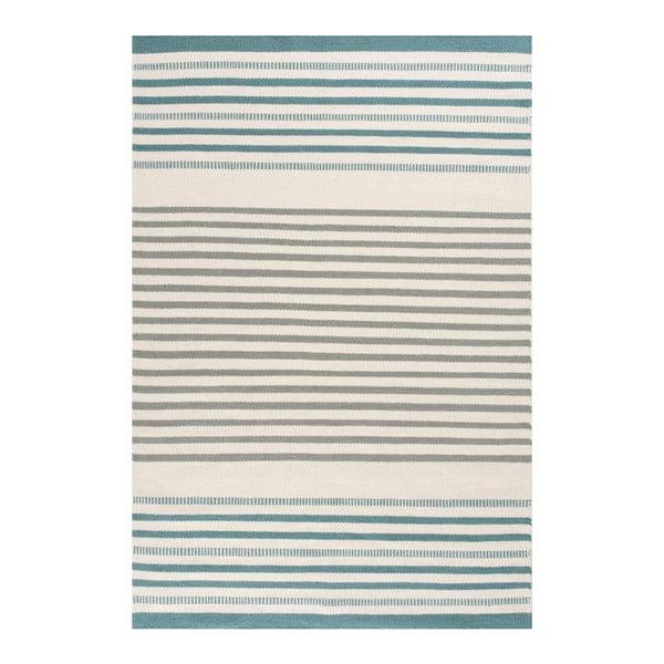 Ručne tkaný vlnený koberec Linie Design Story Aqua, 170x240cm