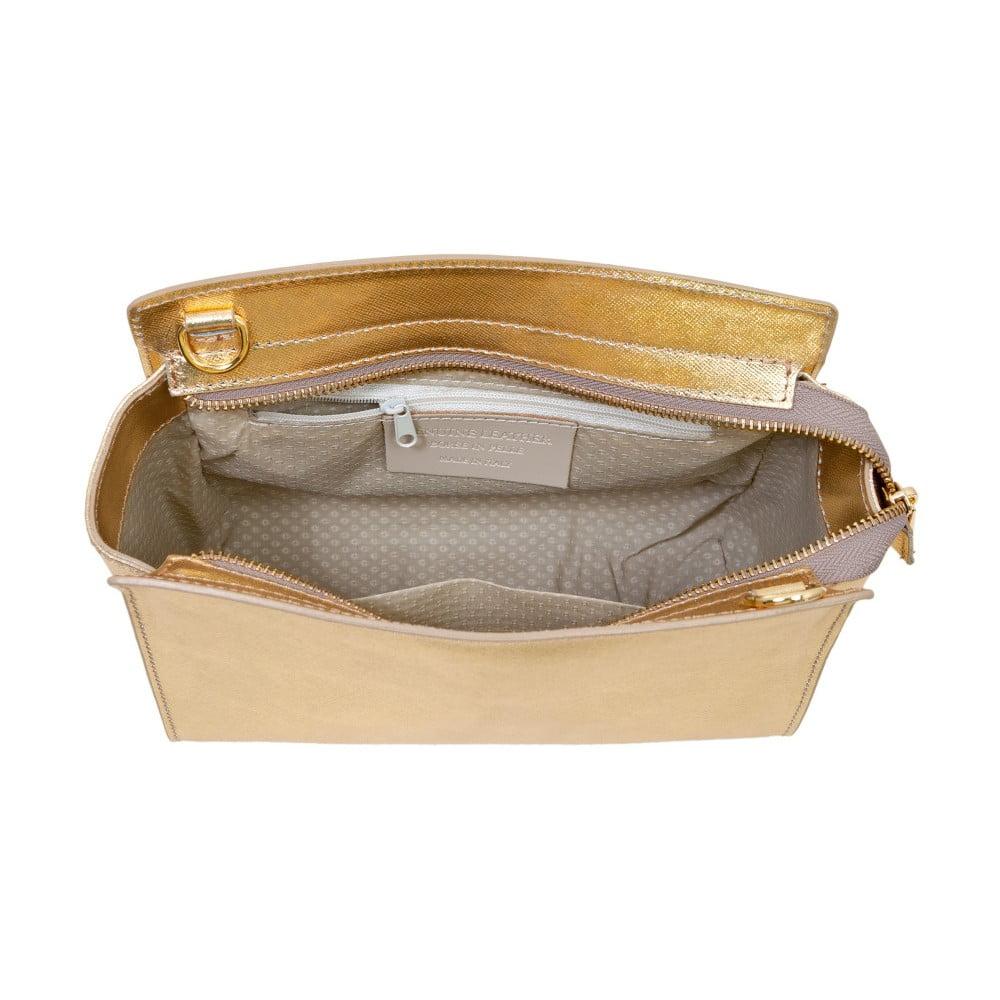 Zlatá kabelka z pravej kože Andrea Cardone Mattia ... b8853a7b255
