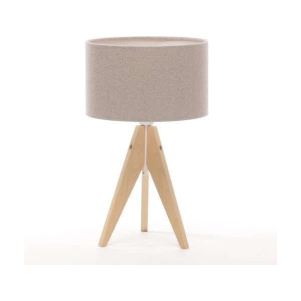 Stolná lampa Arist Cylinder Brown Grey/Natural