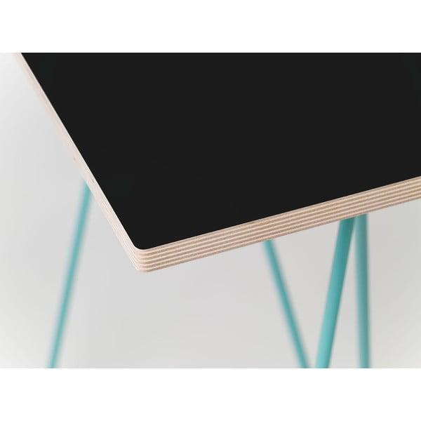 Čierna doska k nohám stolu Flat 150x75 cm, čierna