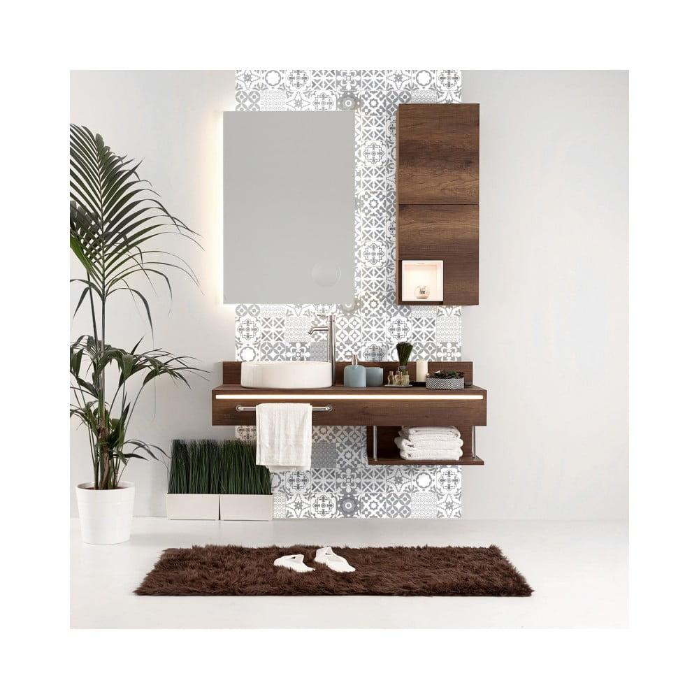 Sada 24 nástenných samolepiek Ambiance Wall Decal Tiles Azulejos Badgio, 10 × 10 cm