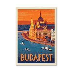 Plagát Americanflat Budapest, 42 x 30 cm