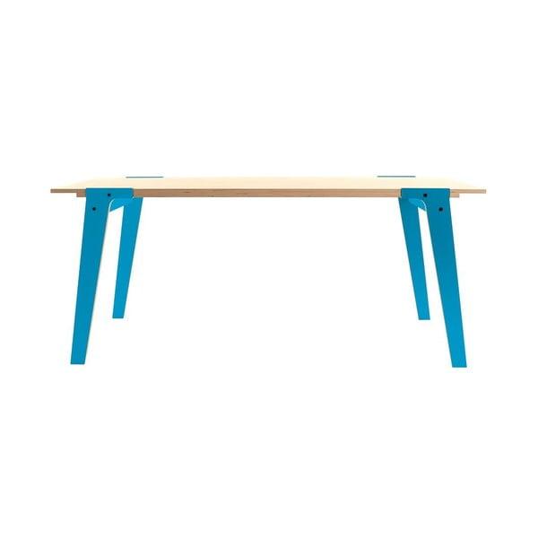 Modrý jedálenský/pracovný stôl rform Switch, doska 200x90cm