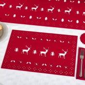 Sada 4 červených prestieraní Neviti Reindeer