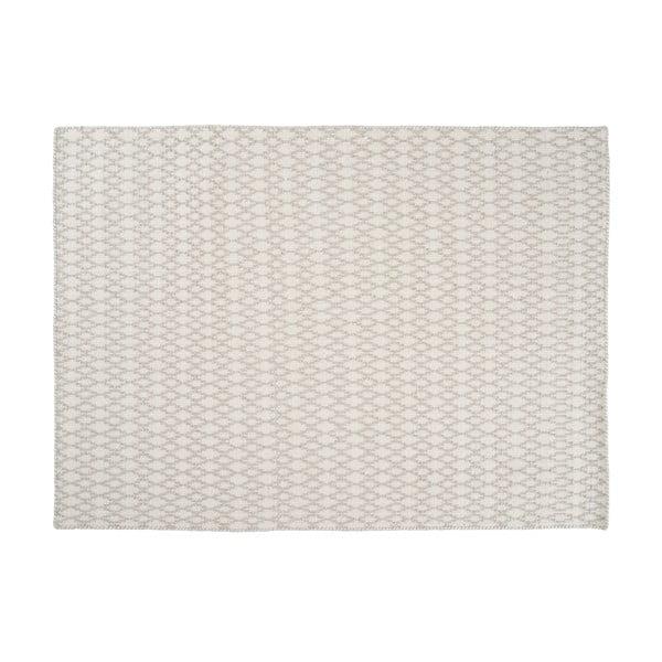 Vlnený koberec Elliot White, 140x200 cm