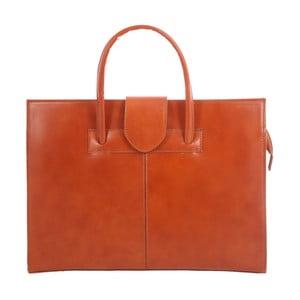 Karamelová kožená taška Paola