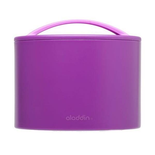 Termobox na desiatu Bento 600 ml, fialový