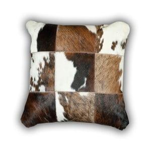 Vankúš z pravej kože Pipsa Cow, 50×50cm