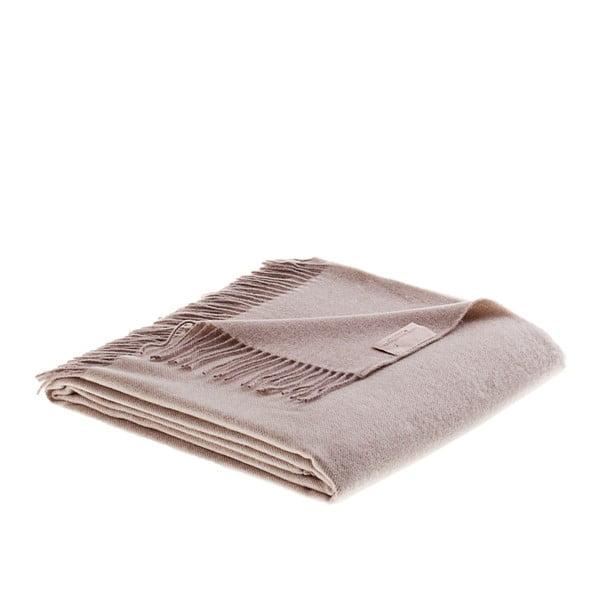 Vlnená prikrývka Rialto 130x180 cm, krémová