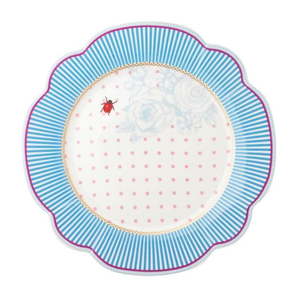 Porcelánový tanier  Stripie od Lisbeth Dahl, 24 cm, 4 ks