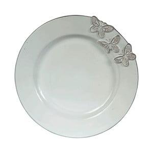 Svetlozelený kameninový dezertný tanier Côté Table Candice, ⌀23 cm