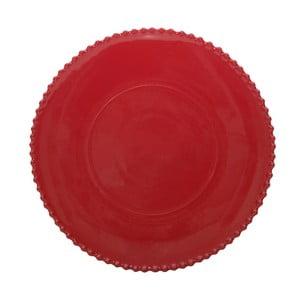 Rubínovočervený kameninový servírovací tanier Costa Nova Pearl, ⌀34 cm