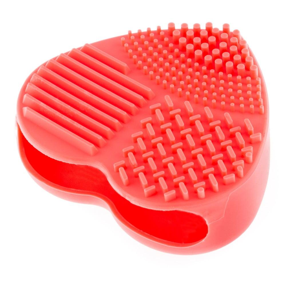 Ručné silikónové čističe na kozmetické štetce InnovaGoods Heart