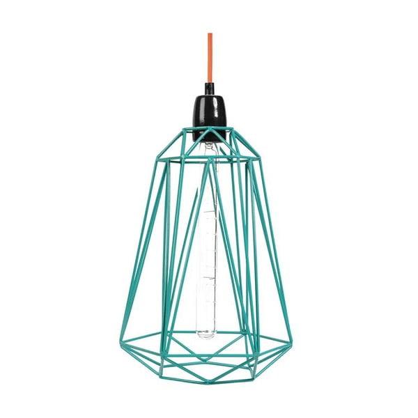 Svetlo s modrým tienidlom a oranžovým káblom Filament Style Diamond #3