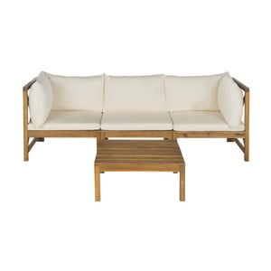 Set záhradnej lavice a odkladacieho stolíka z akáciového dreva Safavieh Sherwood