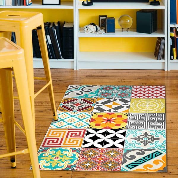 Odolný vinylový koberec Bright Tile, 60x100cm