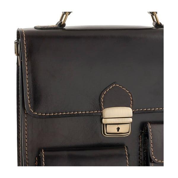 Kožená taška Ore Diece Urbino, tmavohnedá