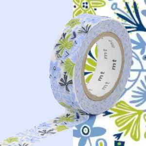 Modro-zelená washi páska MT Masking Tape Beng and Lotta