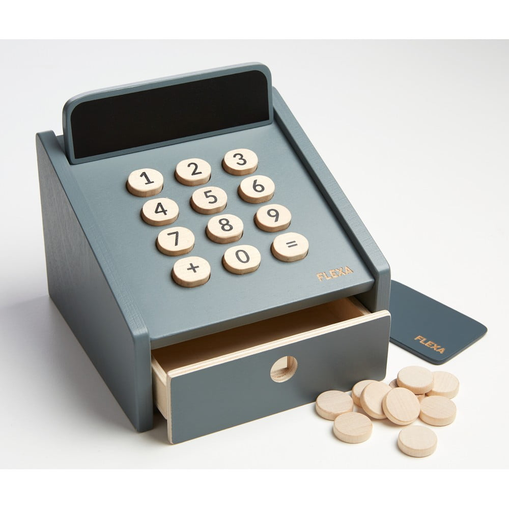 Drevená detská pokladňa Flexa Play Shop Cashregister