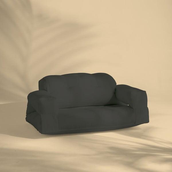 Tmavosivá rozkladacia pohovka vhodná do exteriéru Karup Design Design OUT™ Hippo Dark Grey
