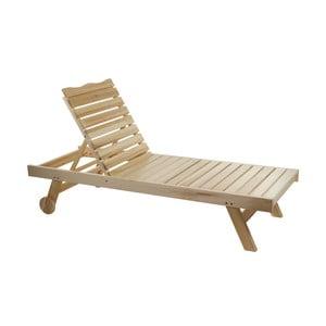 Polohovateľné ležadlo z topoľového dreva Santiago Pons