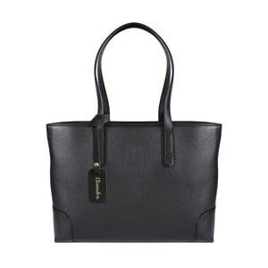 Čierna kožená kabelka Maison Bag Lena