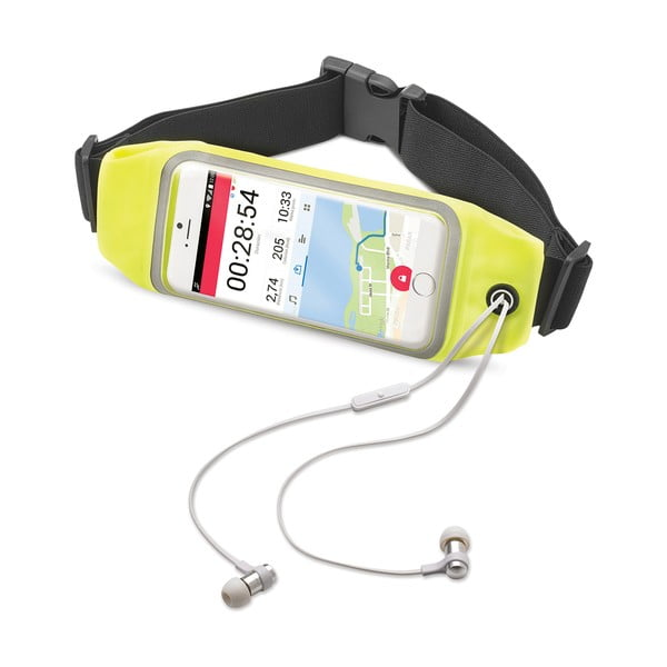 """Žlté športové neoprénové puzdro CELLY RunBelt View, pre telefóny do 4.7"""""""