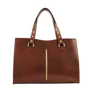 Hnedá kožená kabelka Chicca Borse Keith