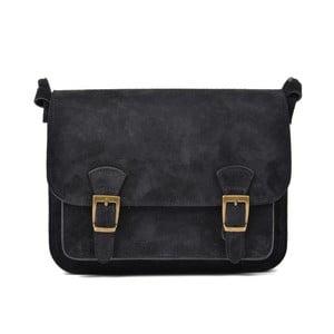Čierna kožená kabelka Renata Corsi Gurmeno