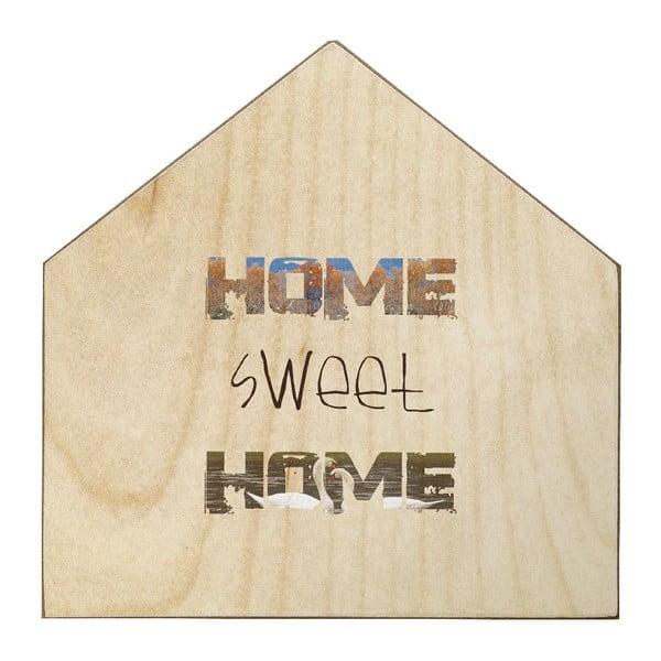 Drevená ceduľa Home Sweet Home, 30x30 cm