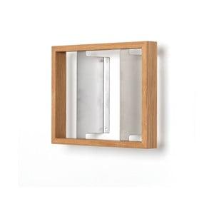 Polica na knihy z dubového dreva das kleine b b4, výška 25cm