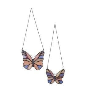 Sada 2 závesných Tiffany motýlikov
