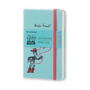 Malý modrý zápisník Moleskine Toy Story, linajkový