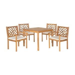 Set záhradného stolíka a stoličiek z akáciového dreva Safavieh Mendoza