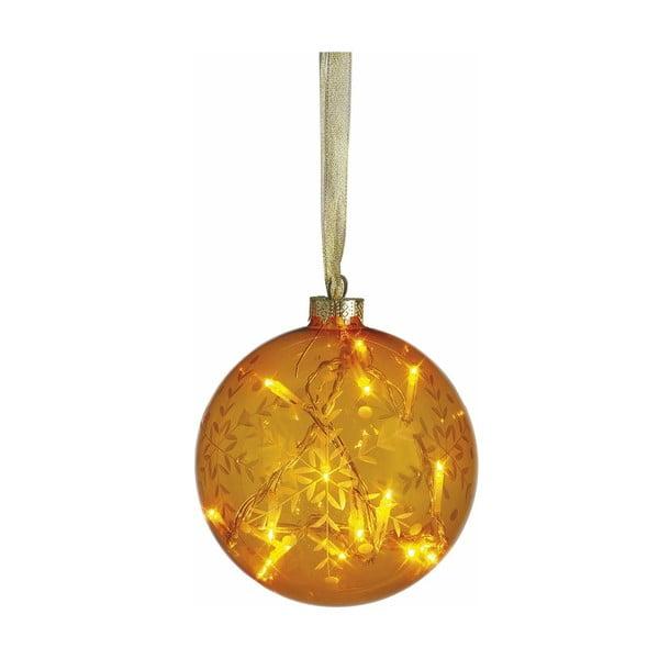 Svietiaca guľa Vesta Yellow, 12 cm