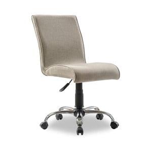 Béžová stolička na kolieskach Soft Chair Beige
