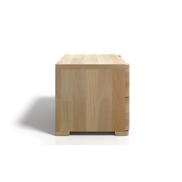 Nočný stolík z bukového dreva s 2 zásuvkami Skandica Sparta