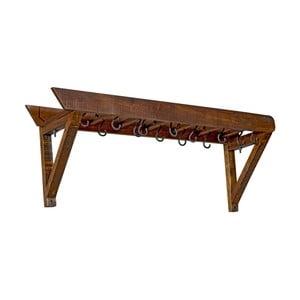 Nástenný vešiak z akáciového dreva Woodking Dent