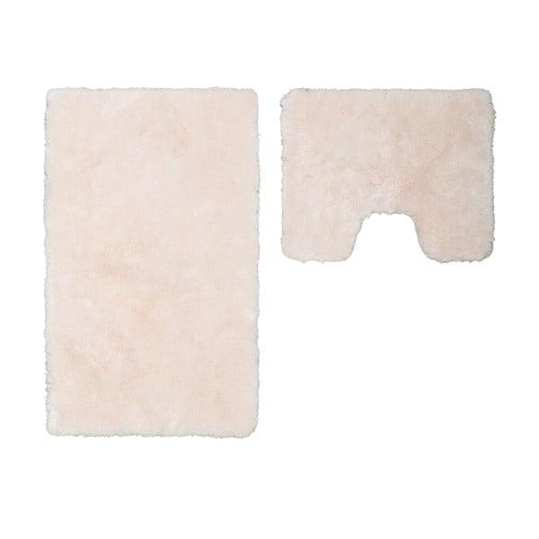 Sada 2 kúpeľňových predložiek s výrezom Spotlight Ivory