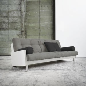 Rozkladacia pohovka Karup Indie White/Granite Grey/Dark Grey