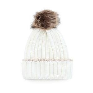 Biela čiapka s brmbolcom Florence