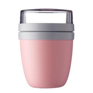 Ružový desiatový box na jogurt Rosti Mepal Ellipse